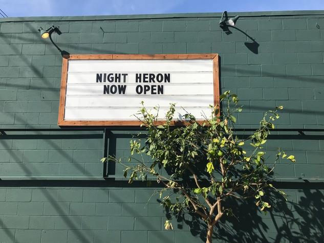 Night Heron sign
