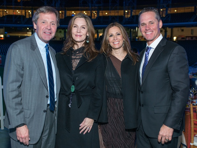 Astros Diamond Gala, Jan. 2016, Paul Murphy, Katherine Murphy, Patty Biggio, Craig Biggio