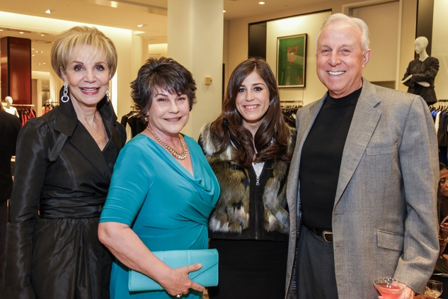 Leisa Holland Nelson, from left, Linda Comeaux, Laura Nelson and Jay Comeaux at the Women of Distinction announcement party October 2014