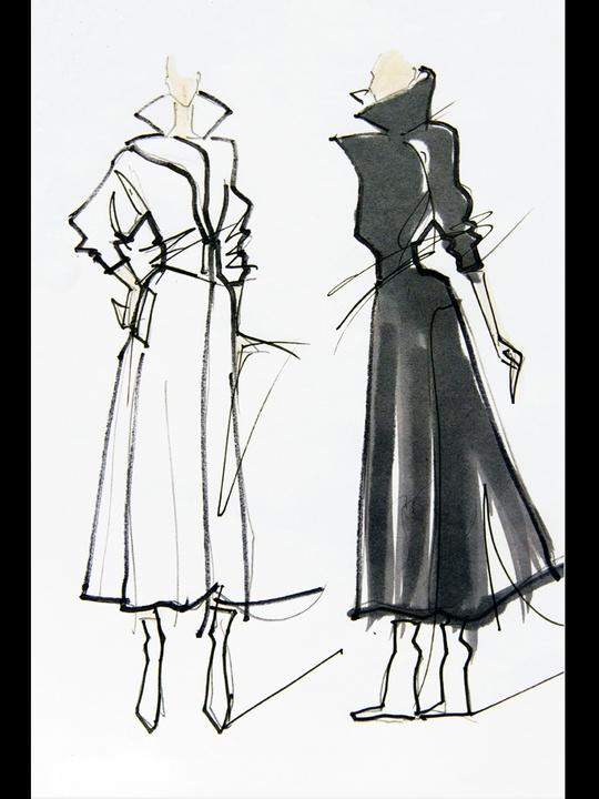 Fashion Week fall 2013, sketches, January 2013, Monica Chiang