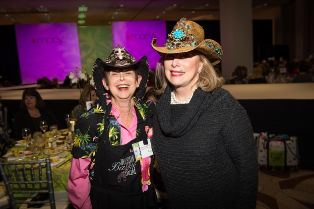 5 Evelyn Leightman, left, and Susan Davis at the Nutcracker Market Macy's luncheon November 2014