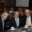Brit Hume, from left Dr. Ron DePinho and Wayne Gibbens at the Houston Living Legend fundraiser dinner May 2014