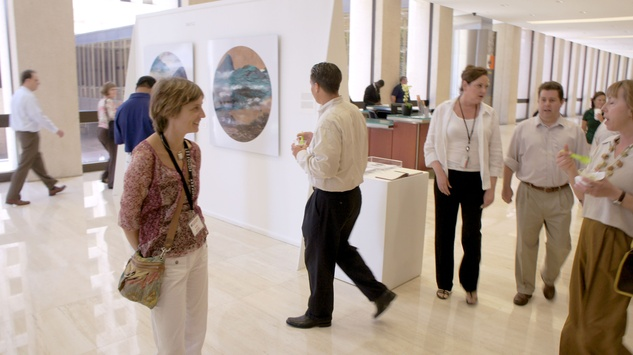 Allen Center gallery photo tour exhibition space