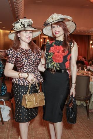 12 0585 Donae Chramosta , left, and Karina Barbieri at the Women's Home tea April 2015