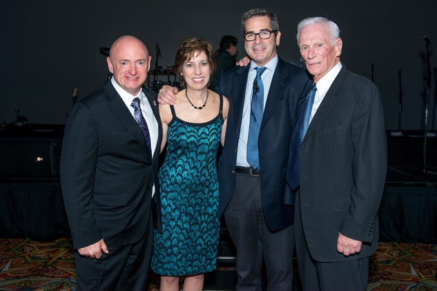 Houston, Galaxy Gala Space Center, May 2015, Mark Kelly, Ellen Ochoa, Miles OBrien, Gene Cernan
