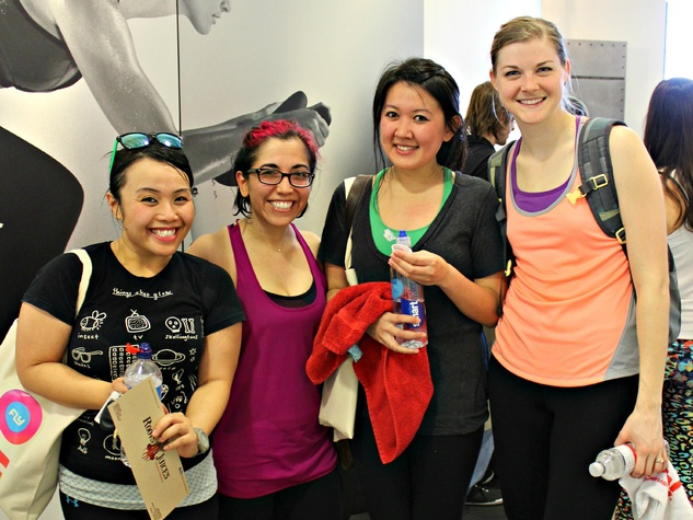 Quyen Dong, Sonia Avila, Kok Veasna, Katelyn Leake, flywheel party