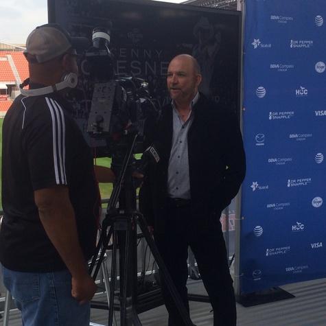 Louis Messina interviewed at BBVA Compass Stadium Dec. 2014