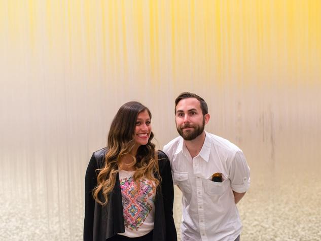 Joseph Grahan and Iliana Rodrigez at the Art Crowd Soto at the MFAH June 2014