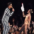 Robin Thicke and Miley Cyrus at the MTV Video Music Awards August 2013