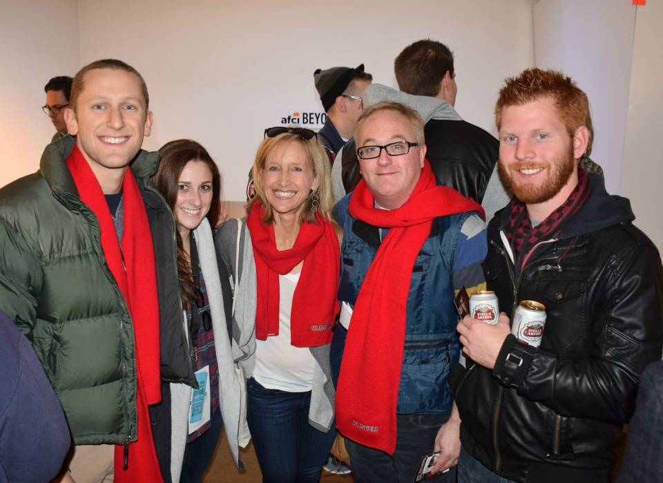 Film Texas party at Sundance Film Festival, Bubba Fish, his sister, mom Shari Fish, producer John Hilary Shepherd, Ryan Thompson