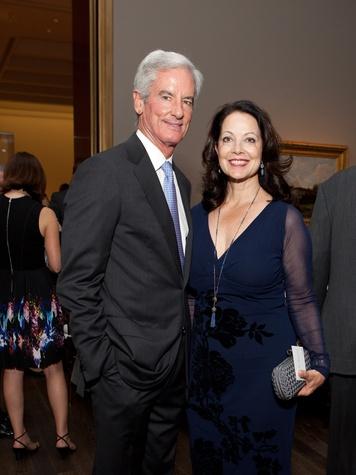 2 Paul and Karol Barnhart at the MFAH opening reception for American Adversaries October 2013