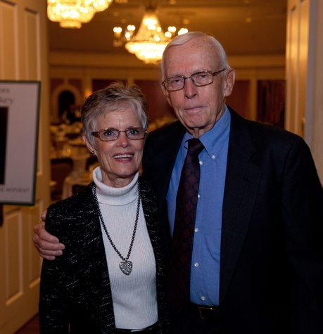 News, Shelby, SpringSpirit Baseball breakfast, February 2015, Barbara and Greg Martin