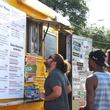 Houston Food Park grand opening Bernie's Burger Bus truck