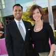 8 Dr. Aashish Shah and Roseann Rogers at the Dress for Success 15th anniversary party October 2013