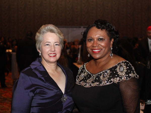 Ensemble Theatre gala, August 2012, Mayor Annise Parker, Ensemble Board President Jackie Philips