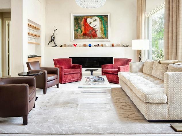 Austin house home 101 Pascal Lane Weslake Rob Roy neighborhood living room painting