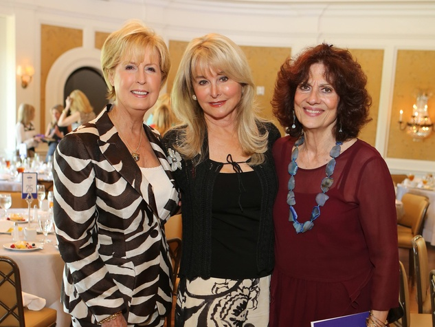 NAME, from left, Michelle Hevrdejs and  Donna Vallone at the St. Luke's Friends of Nursing luncheon April 2014