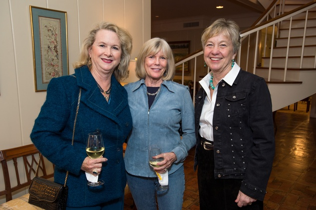 137 Rebecca Rude, from left, Caroline Sabin and Adrian Ross at The Kinkaid School Alumni luncheon March 2015
