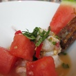 Paul Singhapong's sweet prawn, mint and lemongrass ceviche