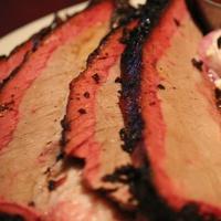 Sliced brisket at FM Smoke House in Irving