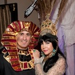 4 Alticus Lyon and Carolyn Farb at the Bone Bash Halloween party October 2013