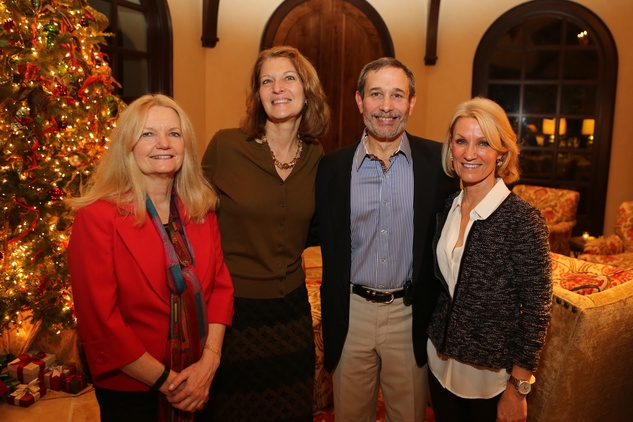 Ginya Trier, from left, Delphine Mendez de Leon, Dr. Mark Skolkin and Susan Hoffman at St. Luke's holiday party December 2014