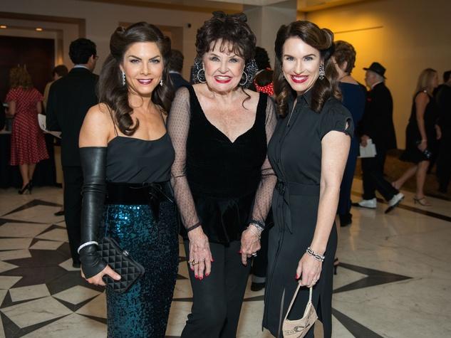 Monica Hartland Blaisdell, Warner Roberts, Samantha Kennedy at Mission of Yahweh gala