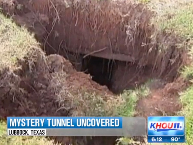 Lubbock man discovers hidden tunnel in back yard September 2013