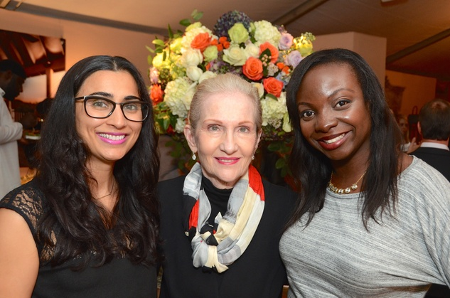 Neha Mehta, from left, Kay Ott and Jaemila Alharazim at the Butler Brothers party November 2014