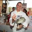 Dunia Borga of La Duni serving Mi Crema, taste of the nfl