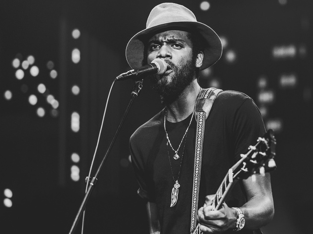 Gary Clark Jr close up black and white Austin City Limits taping ACL TV episode 2015