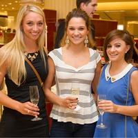 Julia Alston, from left, Katherine Laine and Courtney Laine at the Alley Young Professionals event October 2013