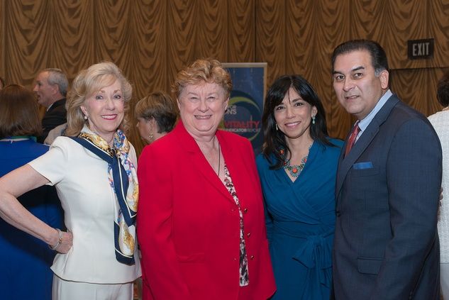 Catherine Mosbacher, from left, Beverly Kaufman and Laura and Rick Jaramillo at the Center for Houston's Future luncheon March 2015