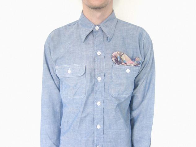 Houston Design Fair 2013 exhibitors Evens Tremolite shirt with pocket scarf