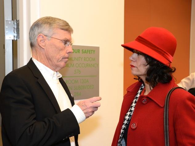 9 Jack Christie and Carol Alvarado at the mayoral inauguration reception at the Houston Food Bank January 2014