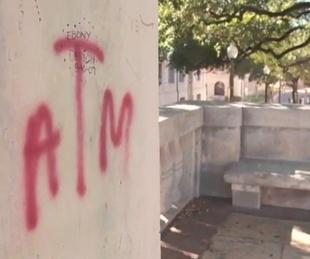 Texas A&M, University of Texas, graffiti, October 2012