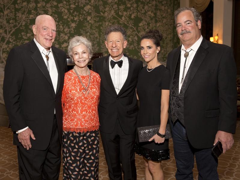 Houston, Blue Bird Circle Gala with Lyle Lovett, April 2017, Bob McNair, Janice McNair, Lyle Lovett, Hannah McNair, Cal McNair