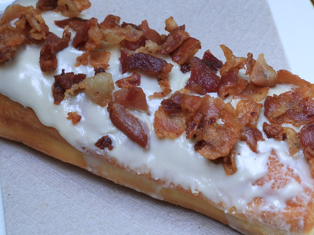 Pena's Donut Heaven & Grill Pearland June 2013 pastry with bacon