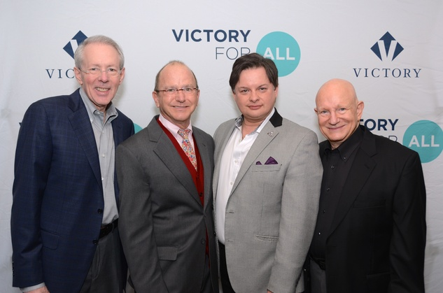43 Dr. Bruce Smith, from left, Steven Kirkland, Brooks Ballard and Tony Carroll at the Victory Brunch March 2015