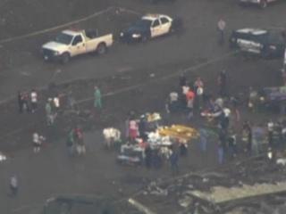 Shot from Moore, Oklahoma tornado destruction