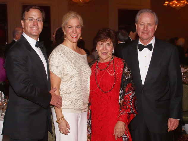 Robert and Katherine Hatcher, from left, and Janet and Ernie Cockrell at the Welch banquet October 2014