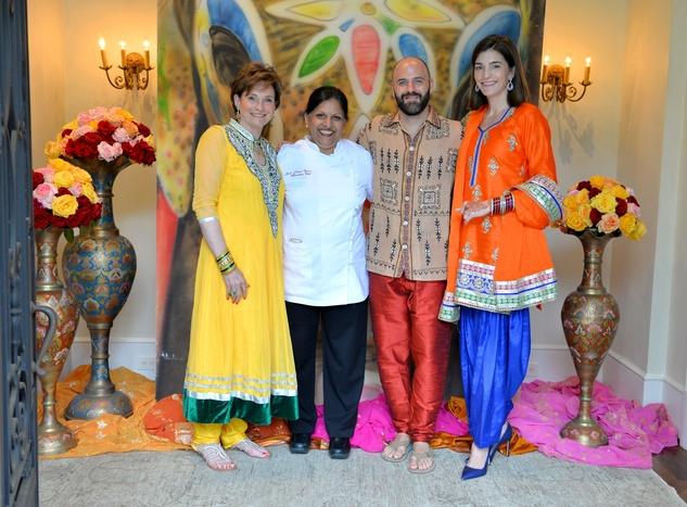 News, Shelby, Recipe for Success Indian dinner, May 2015, Bobbie Nau, Kiran Virma, Andy and Liz Stepanian