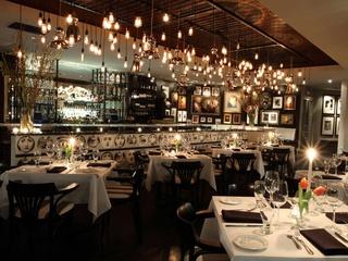 Interior of Dragonfly restaurant at Hotel Zaza Dallas