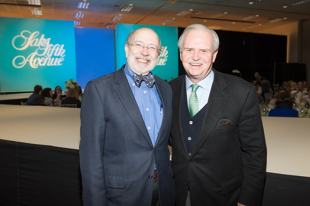 C.C. Conner, left, and Jim Furr at the Nutcracker Market Saks luncheon and fashion show November 2014
