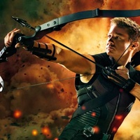 Jeremy Renner as Hawkeye in Avengers: The Age of Ultron
