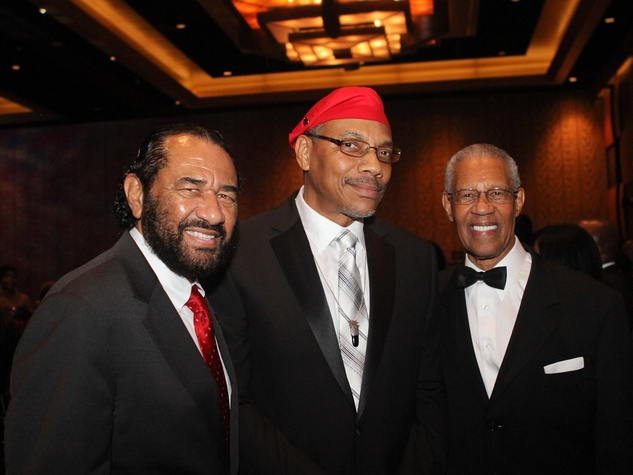 Ensemble Theatre gala, August 2012, Congressman Al Green, Diem Jones, the Rev. Bill Lawson
