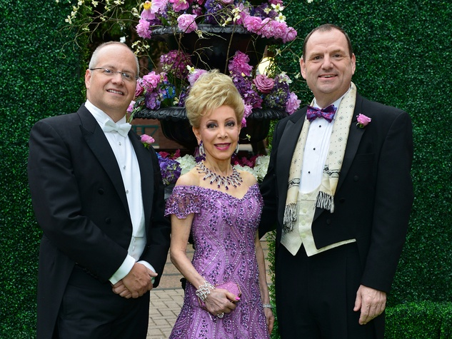 Patrick Summers, from left, Margaret Alkek Williams and Perryn Leech at the Opera Ball April 2014