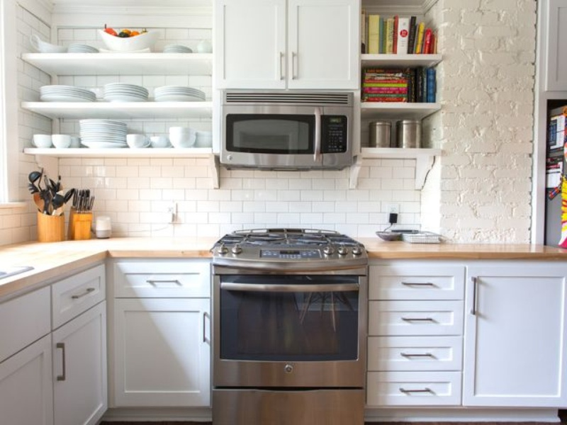 Houzz kitchen with wood