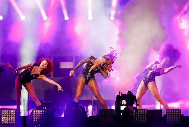 Beyonce at On The Run concert at Minute Maid Park July 2014