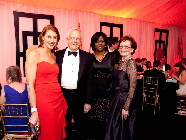8 Jen Daly, from left, John Scales, Dr. Olutoyin Olutoye and Gracie McClure at the Junior League of Houston Charity Ball February 2014